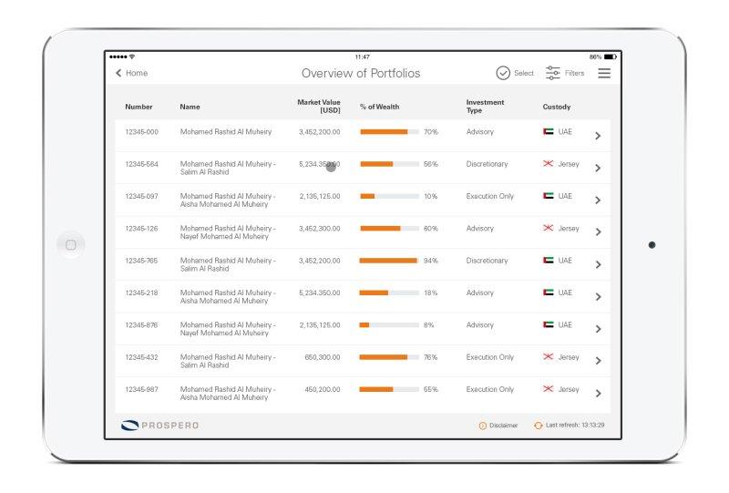 Prospero Mobile App RM demonstration